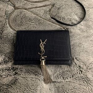 YSL wallet on a chain purse